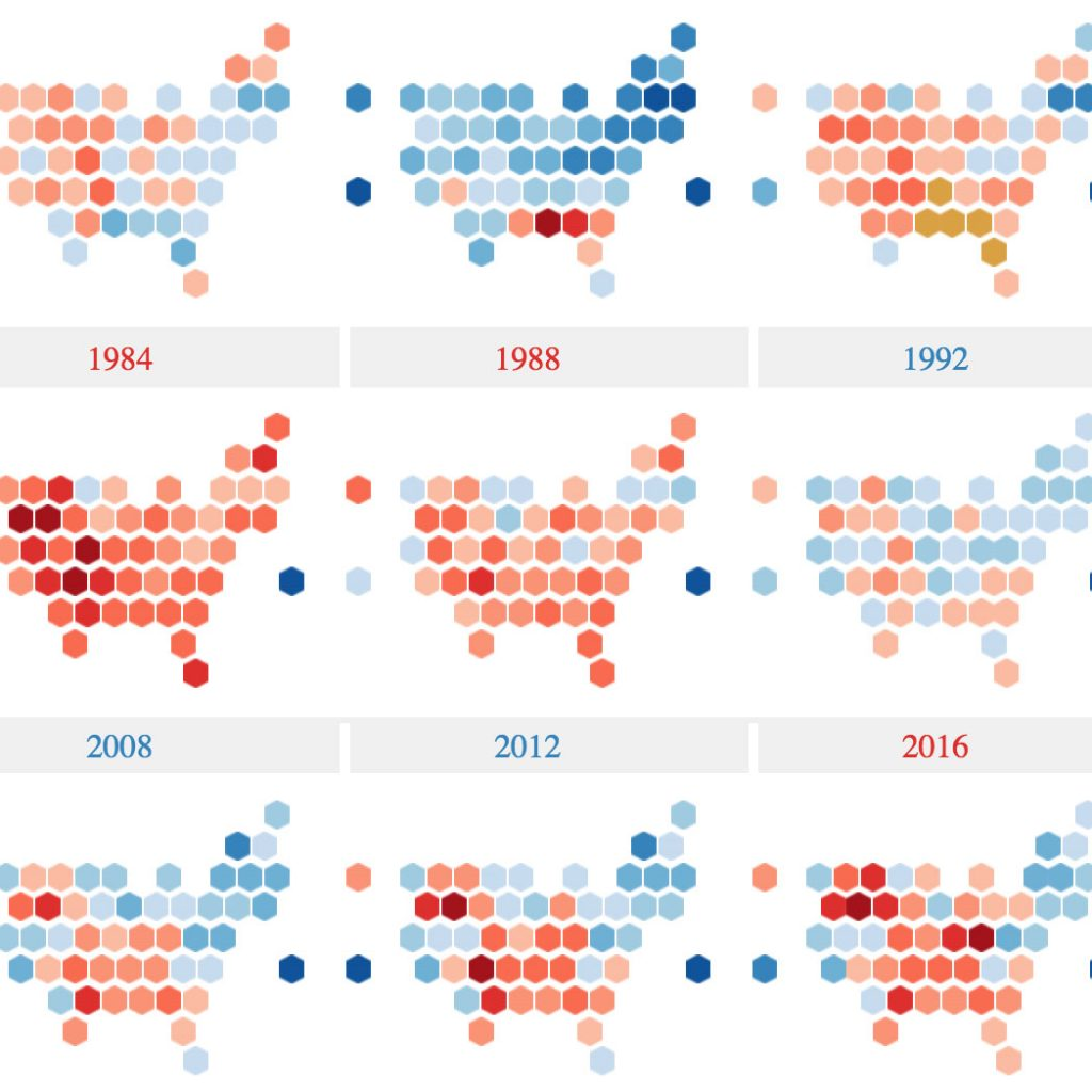 Tableau US Presidential Elections by Jacob Olsufka